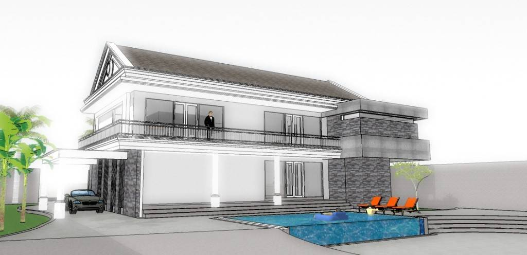 Civarch Design Studio Mr. J Gothic House Dili, Timor Leste Dili, Timor Leste Facade-View Modern  5655