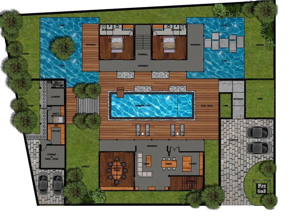 Civarch Design Studio Jimba Villa At Umalas Bali, Indonesia Bali, Indonesia Ground-Floor-1 Tropis  5679