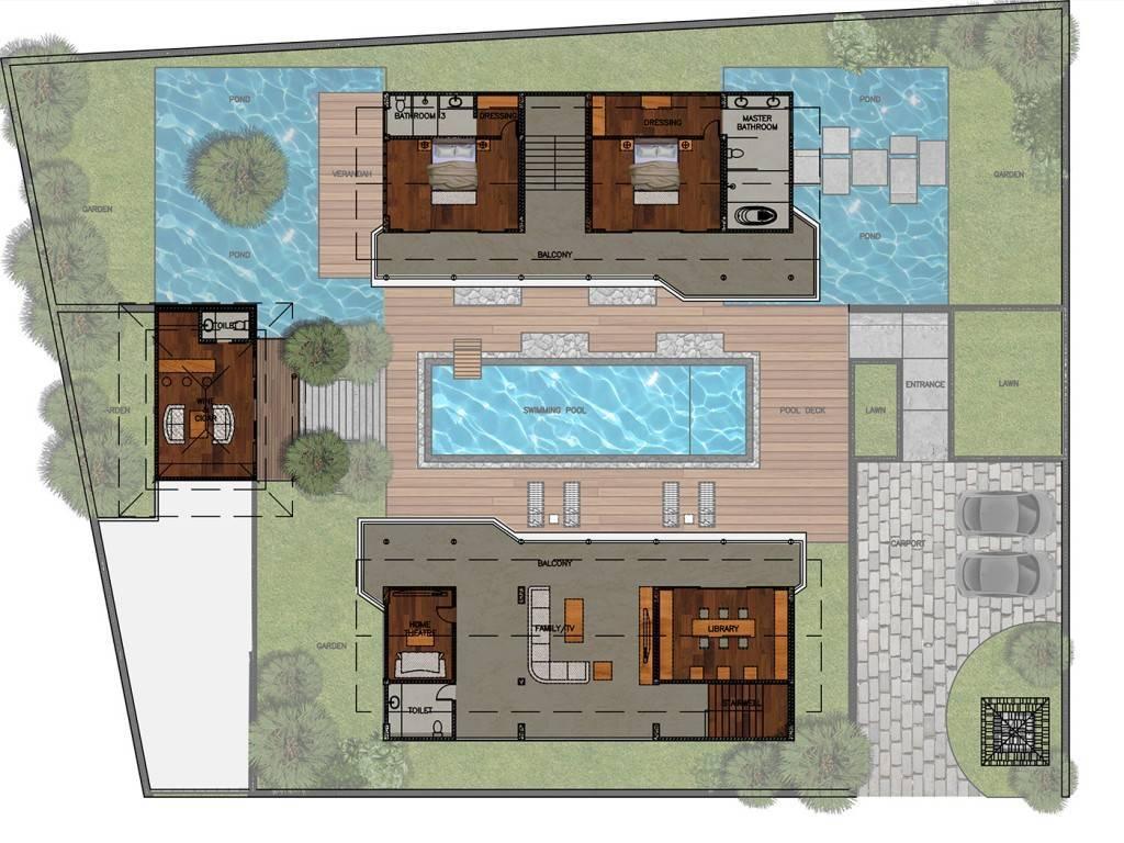 Civarch Design Studio Jimba Villa At Umalas Bali, Indonesia Bali, Indonesia Upper-Floor-1 Tropis  5681