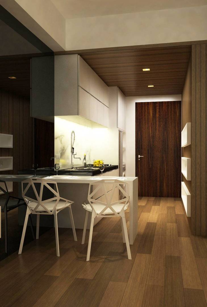 Ruang Komunal Kemang Studio Apartment Kemang Village Apartment Kemang Village Apartment Kitchen & Dining Area Modern Kitchen And Dining Area 6541