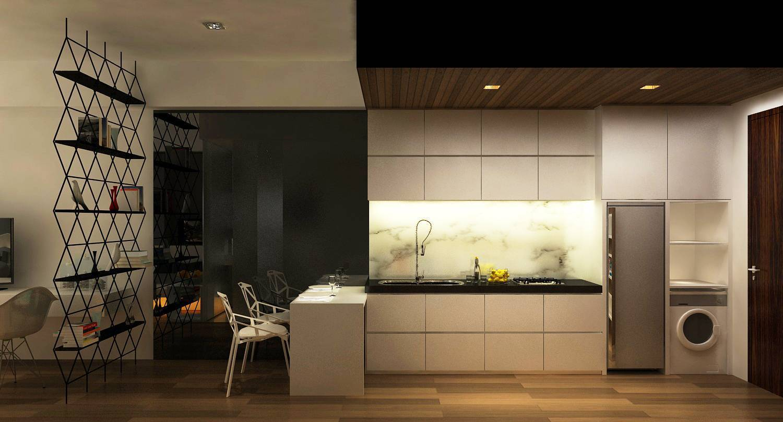 Ruang Komunal Kemang Studio Apartment Kemang Village Apartment Kemang Village Apartment Kitchen & Dining Area 2 Modern Kitchen & Dining Area 6542