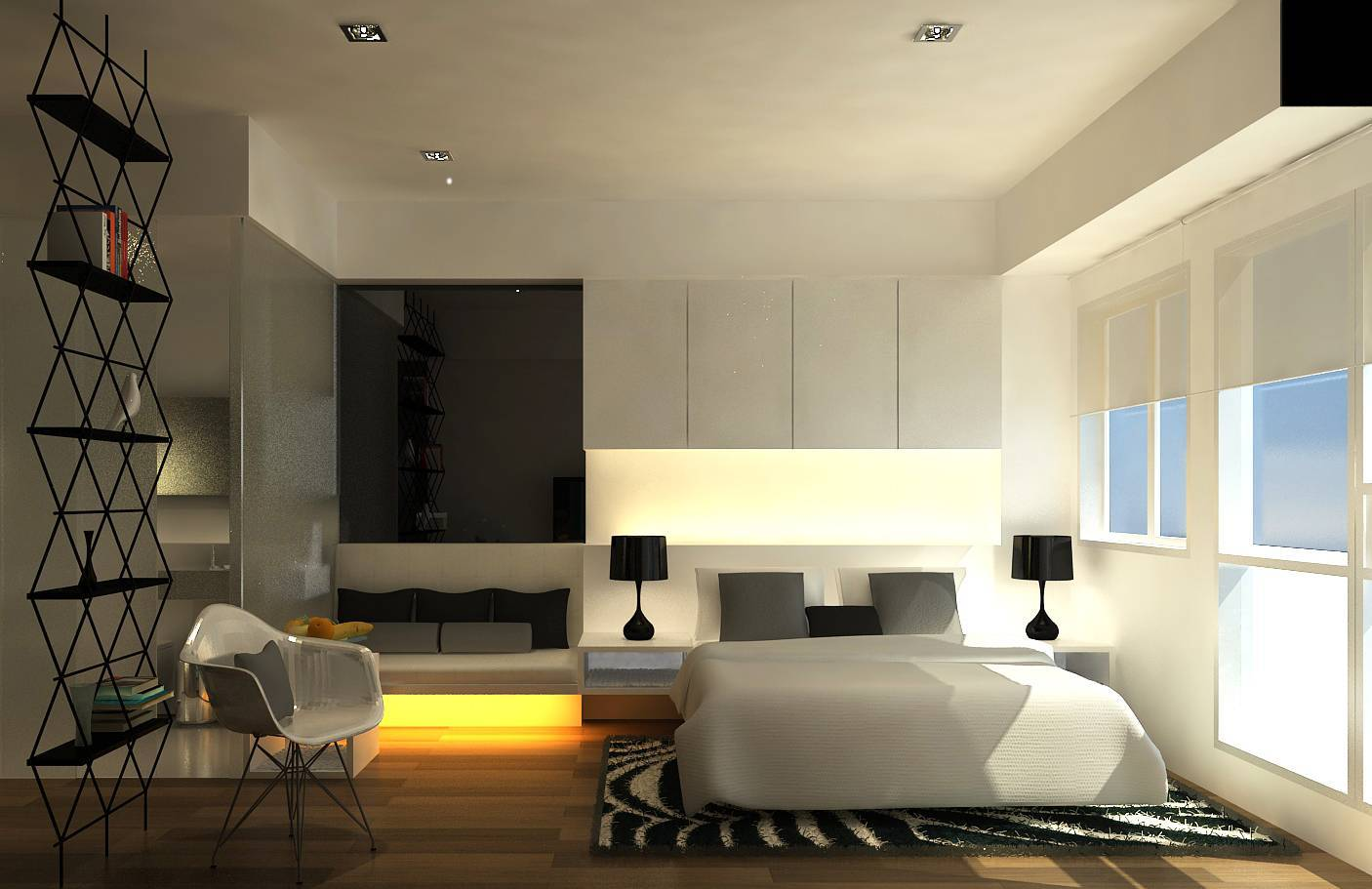Ruang Komunal Kemang Studio Apartment Kemang Village Apartment Kemang Village Apartment Bedroom Area Modern Open Bedroom Area 6544