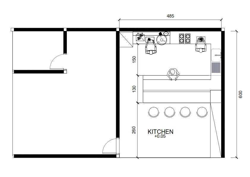 Ruang Komunal Muara Karang Kitchen Renovation Jakarta, Indonesia Jakarta - Muara Karang Layout001 Modern  16441