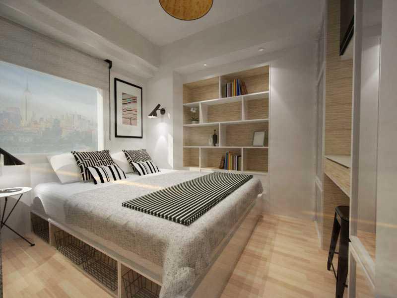 Ruang Komunal Compact Bedroom Jakarta Jakarta Bedroom Minimalis  16435