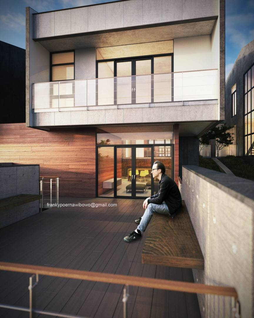 Franky Wibowo Minimal House Bandung, West Java, Indonesia Bandung, West Java, Indonesia Balcony Modern  6465
