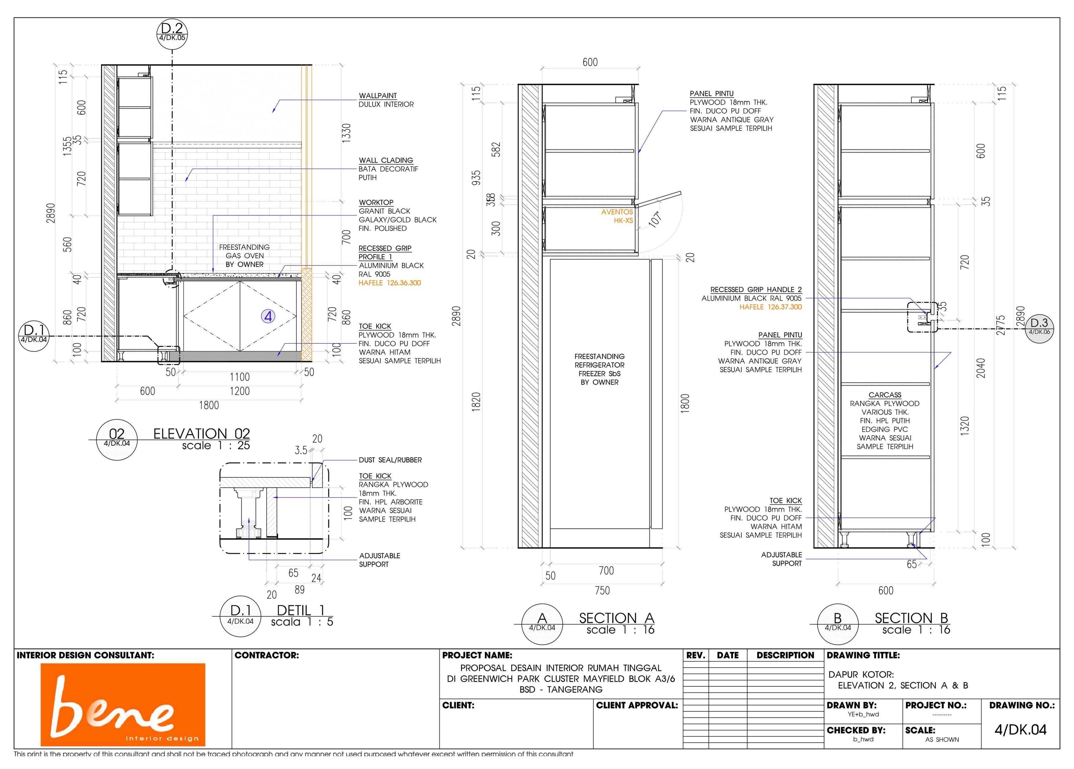 Bene Kitchen Desain Bsd Bsd 4Dk Modern  12817