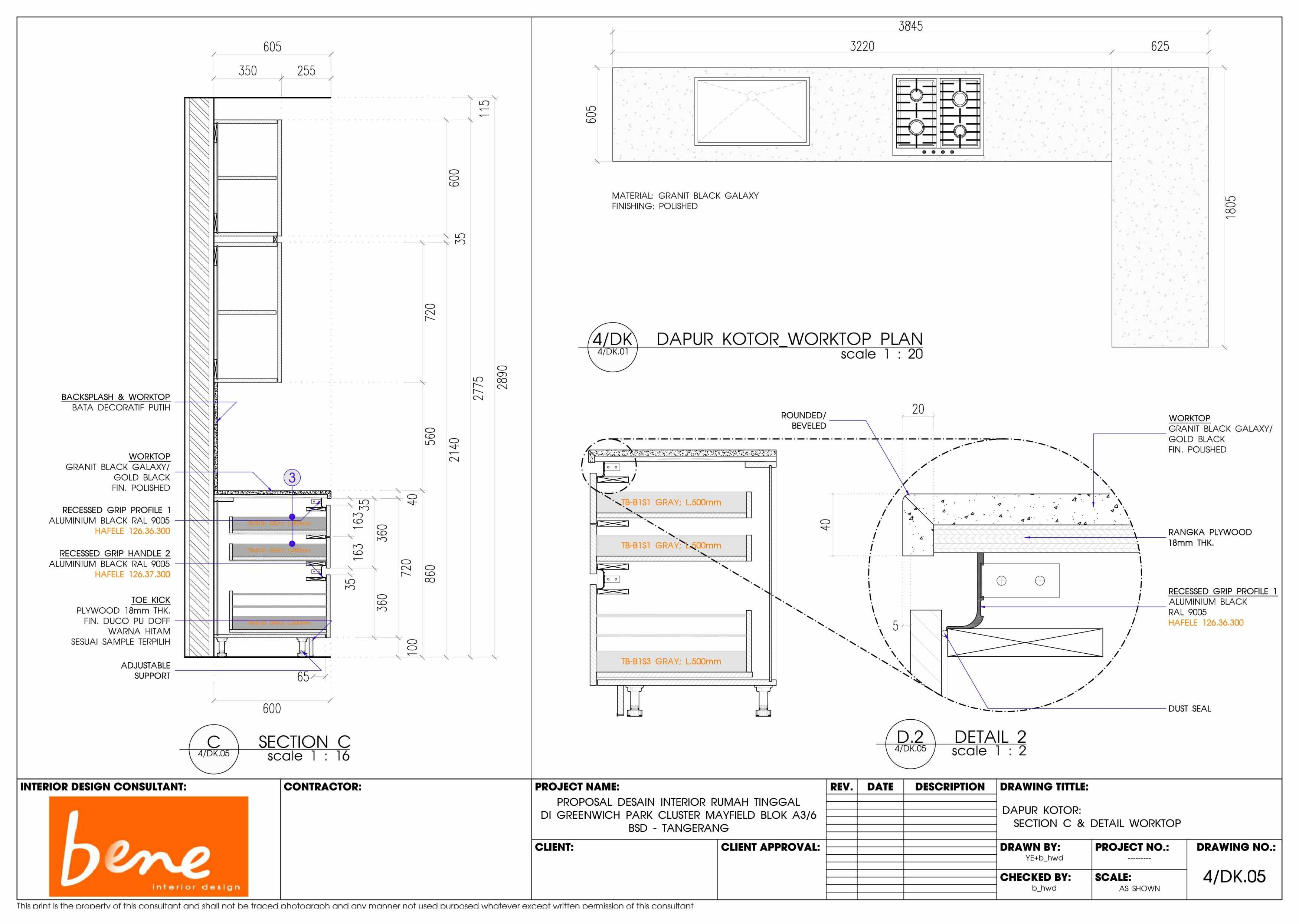 Bene Kitchen Desain Bsd Bsd Plan Modern  12818