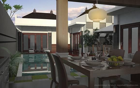 Ed Architect Bali Bliss Villa At Seminyak Bali, Indonesia Bali, Indonesia Dining-Table Tradisional  6700