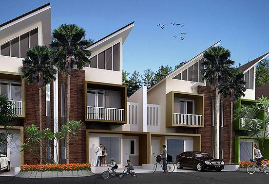 Ed Architect Palm Residence At Pondok Aren Jakarta, Indonesia Jakarta, Indonesia Housing-Model2 Minimalis  6775