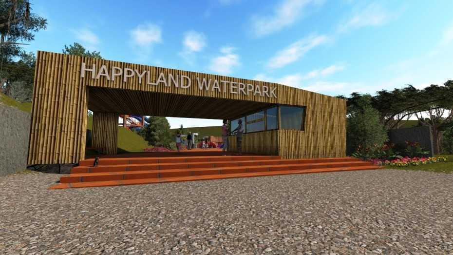 Sujud Gunawan Studio Happyland Waterpark Jl. Cihideung, Cibalung, Cijeruk, Bogor, Jawa Barat 16740, Indonesia Bogor Front View Tropical  12674