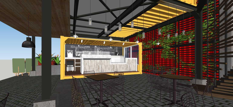 Sujud Gunawan Studio Soci@l Cafe-Bar-Kitchen Sunter, Jakarta Sunter, Jakarta Counter Industrial  16774