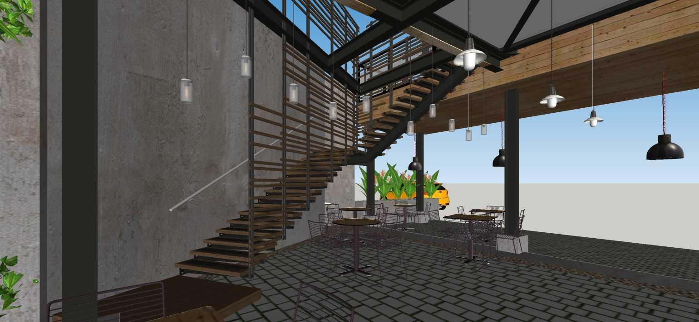 Sujud Gunawan Studio Soci@l Cafe-Bar-Kitchen Sunter, Jakarta Sunter, Jakarta Stairs Industrial  16775