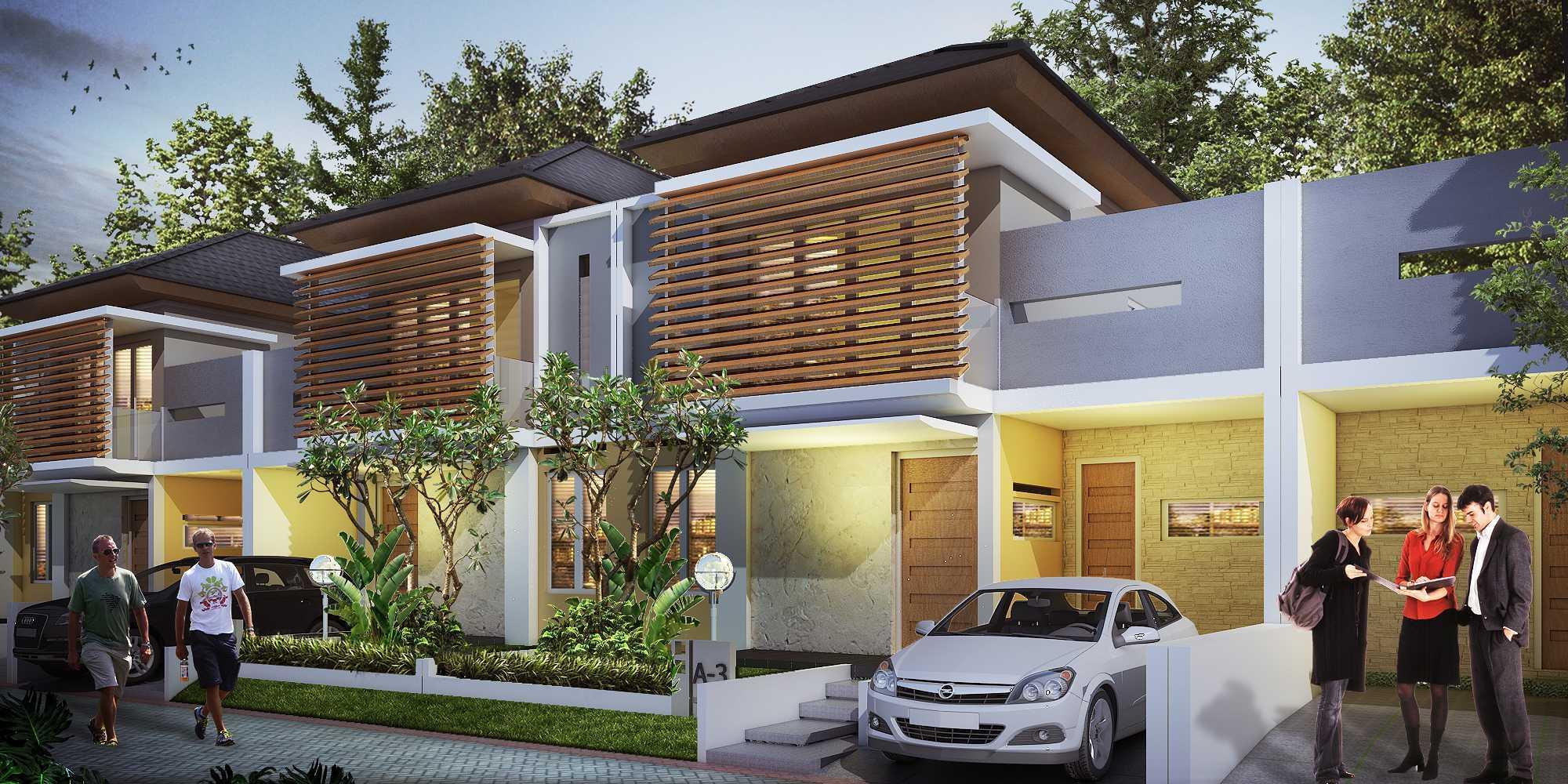 Hendra Budi Architect Quantum Royale Residence At Bantul Yogyakarta, Indonesia Yogyakarta, Indonesia Residence-Front-View-1 Kontemporer  8325