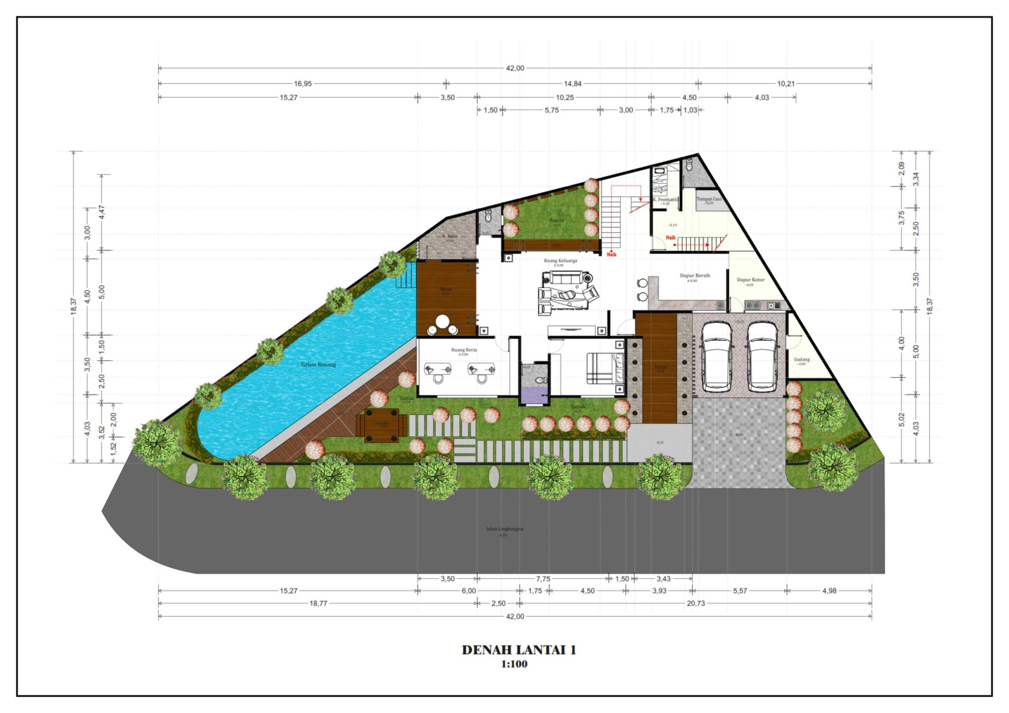 Hendra Budi Architect Privat House Tangerang Tangerang Tangerang Denah-Lantai-1 Modern  16365