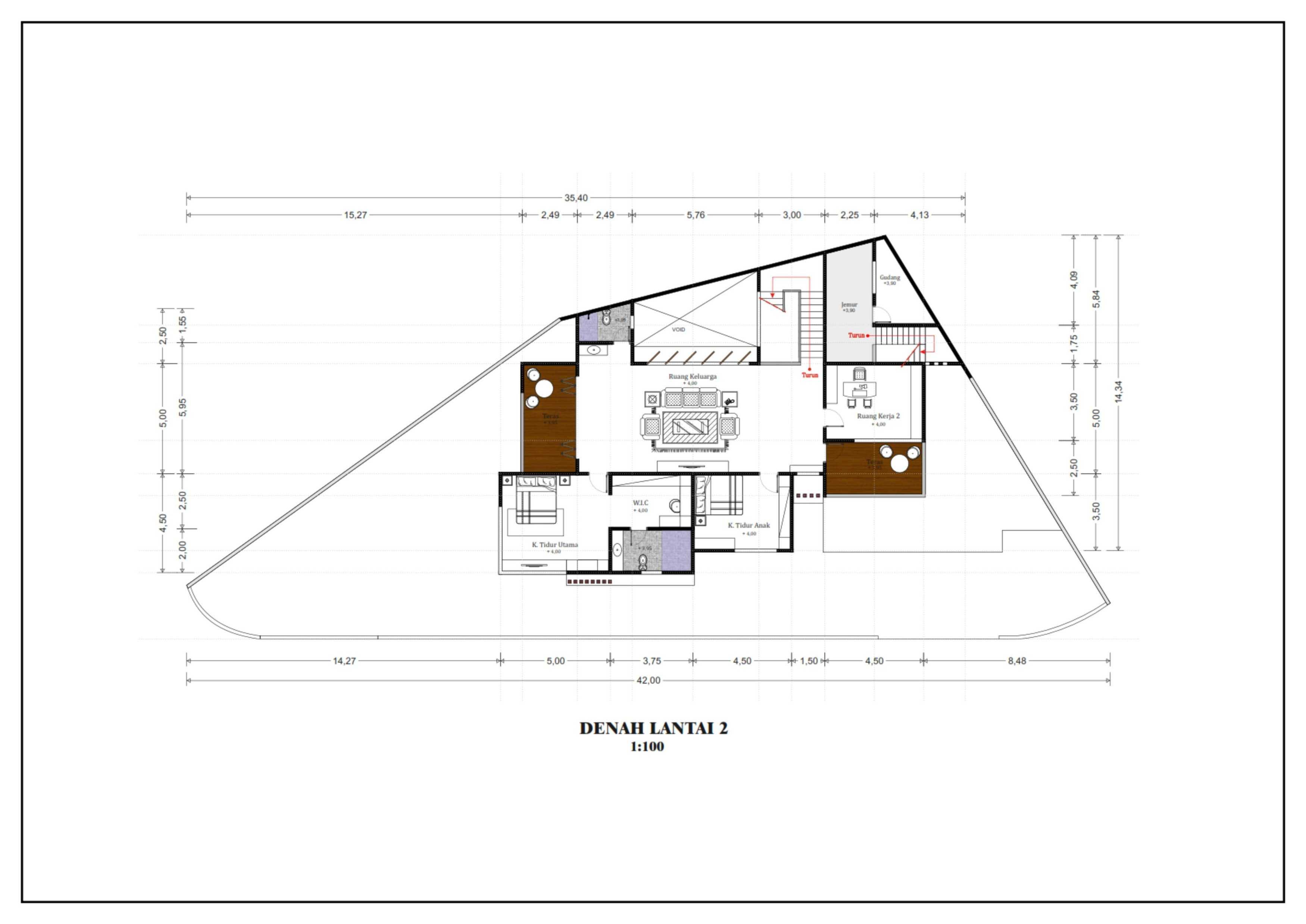 Hendra Budi Architect Privat House Tangerang Tangerang Tangerang Denah-Lantai-2 Modern  16366