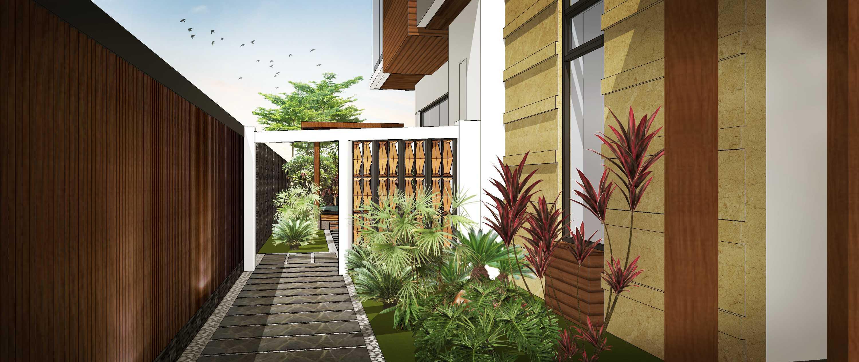 Hendra Budi Architect Privat House Tangerang Tangerang Tangerang Side Garden Modern  16897