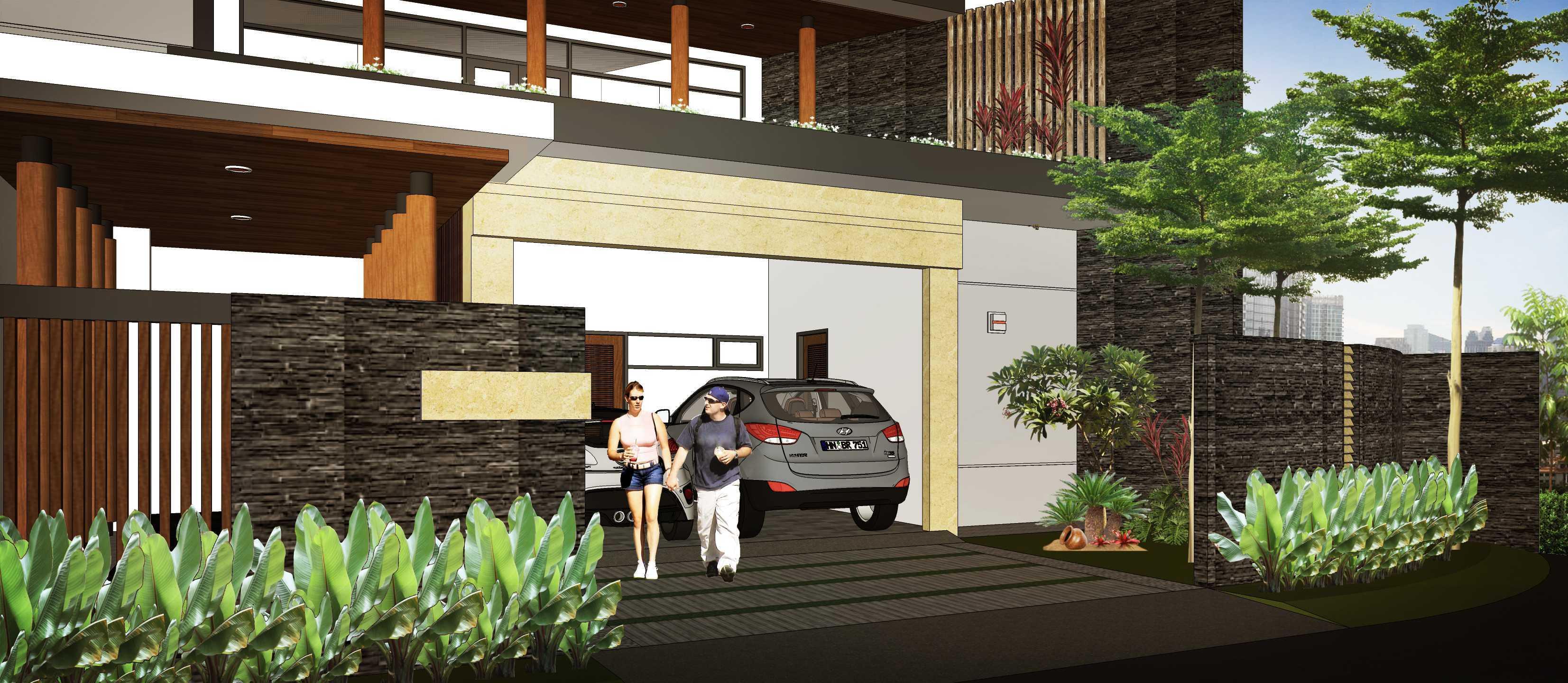 Hendra Budi Architect Privat House Tangerang Tangerang Tangerang Front View Modern  16902