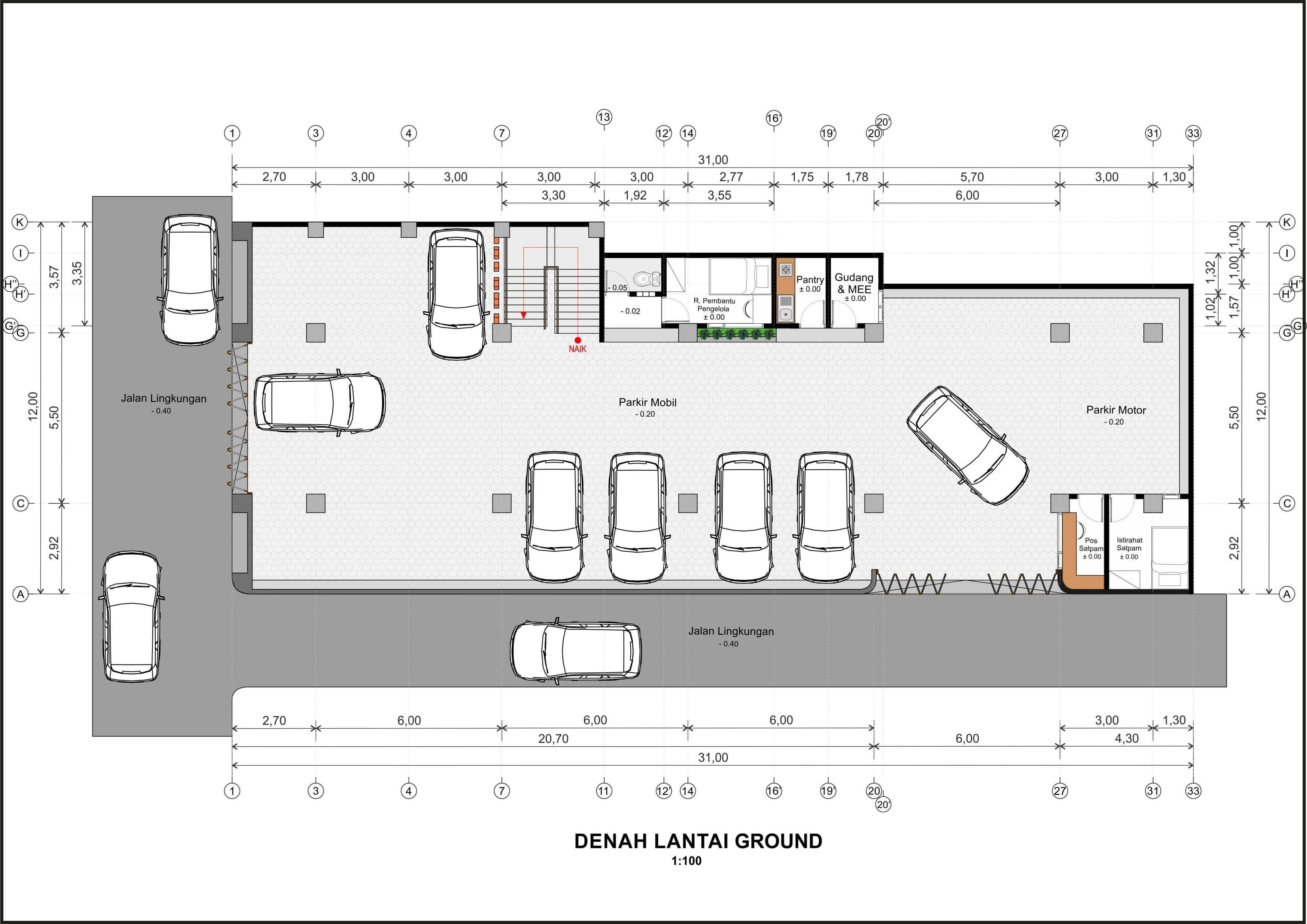 Hendra Budi Architect Wisma Sarjana Yogyakarta Yogyakarta Denah-Ground   16373