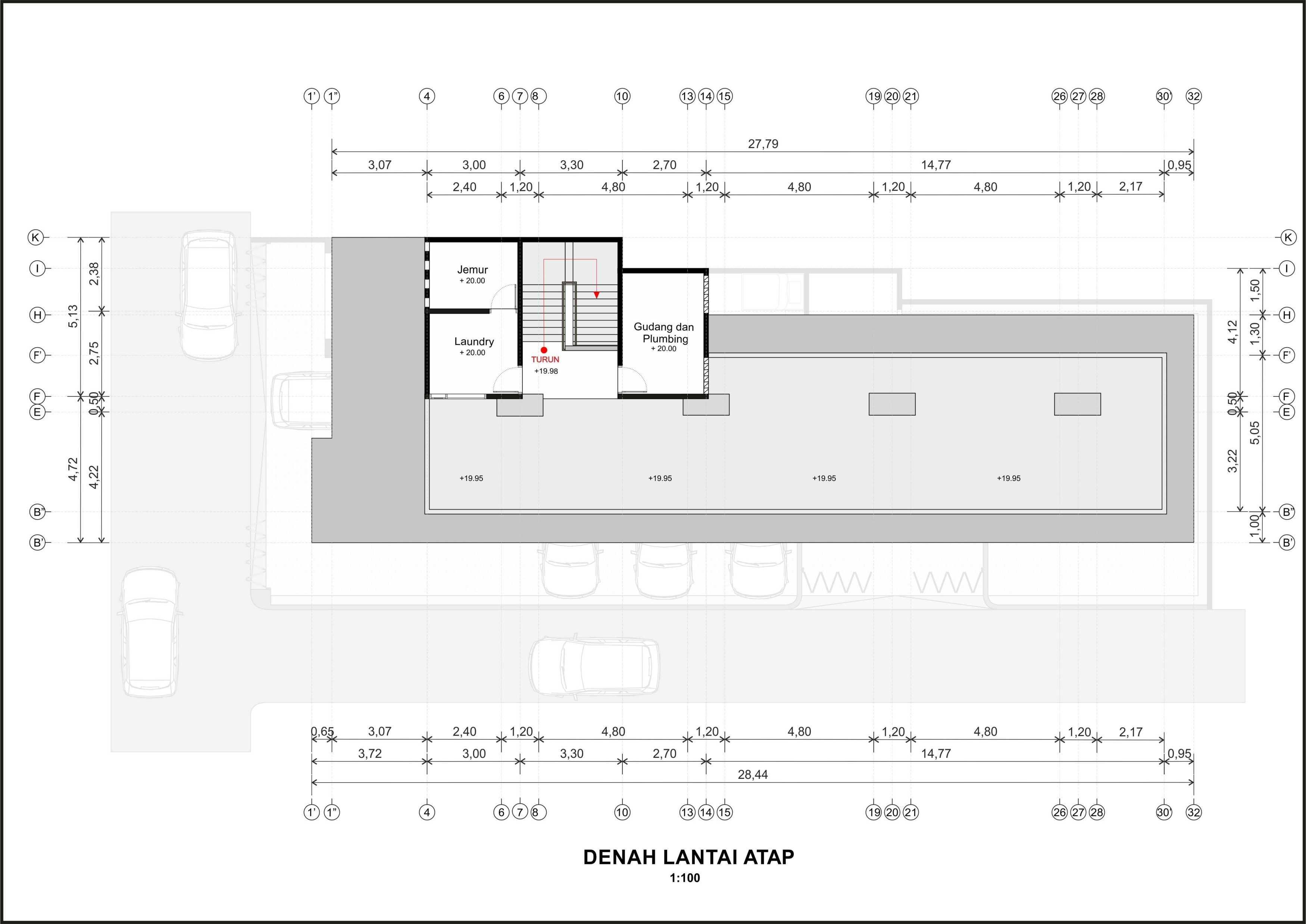 Hendra Budi Architect Wisma Sarjana Yogyakarta Yogyakarta Denah-Lantai-Atap   16379