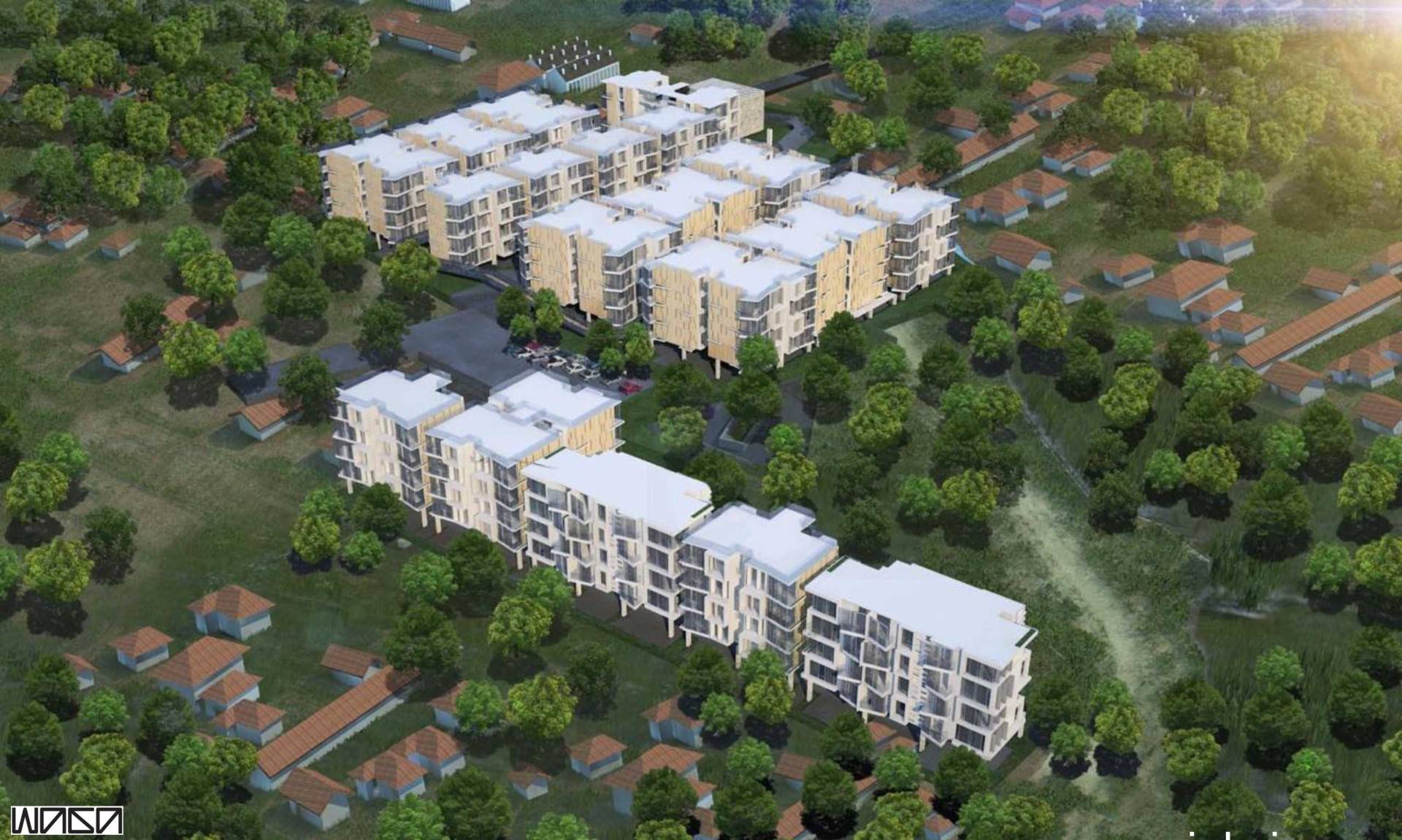 Waga Pejaten Mansion Masterplan Jakarta, Indonesia Jakarta, Indonesia Aerial-View   7329