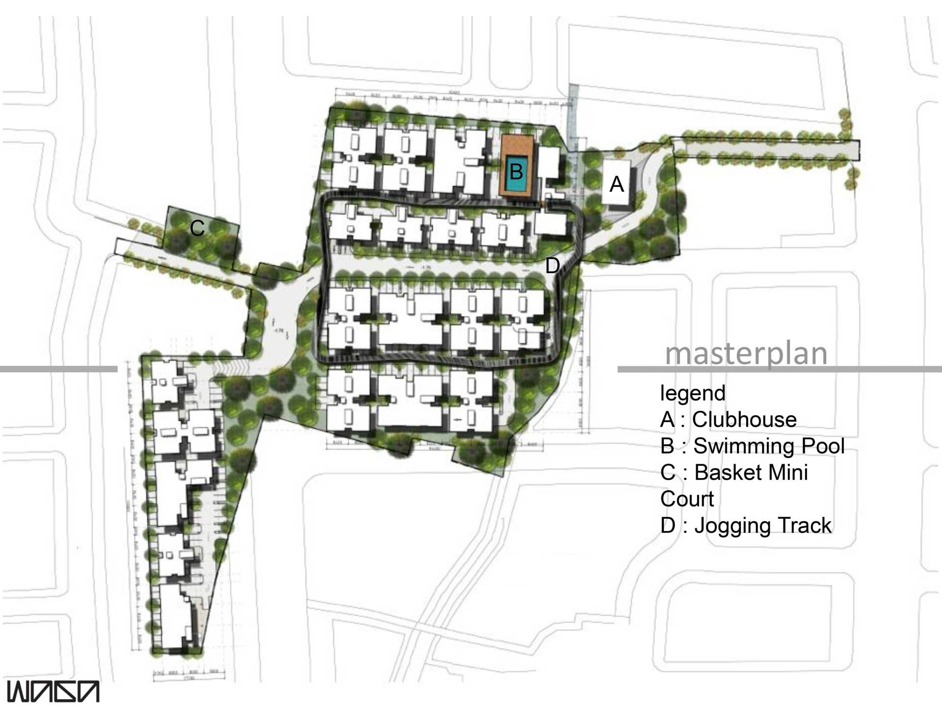 Waga Pejaten Mansion Masterplan Jakarta, Indonesia Jakarta, Indonesia Masterplan   7330