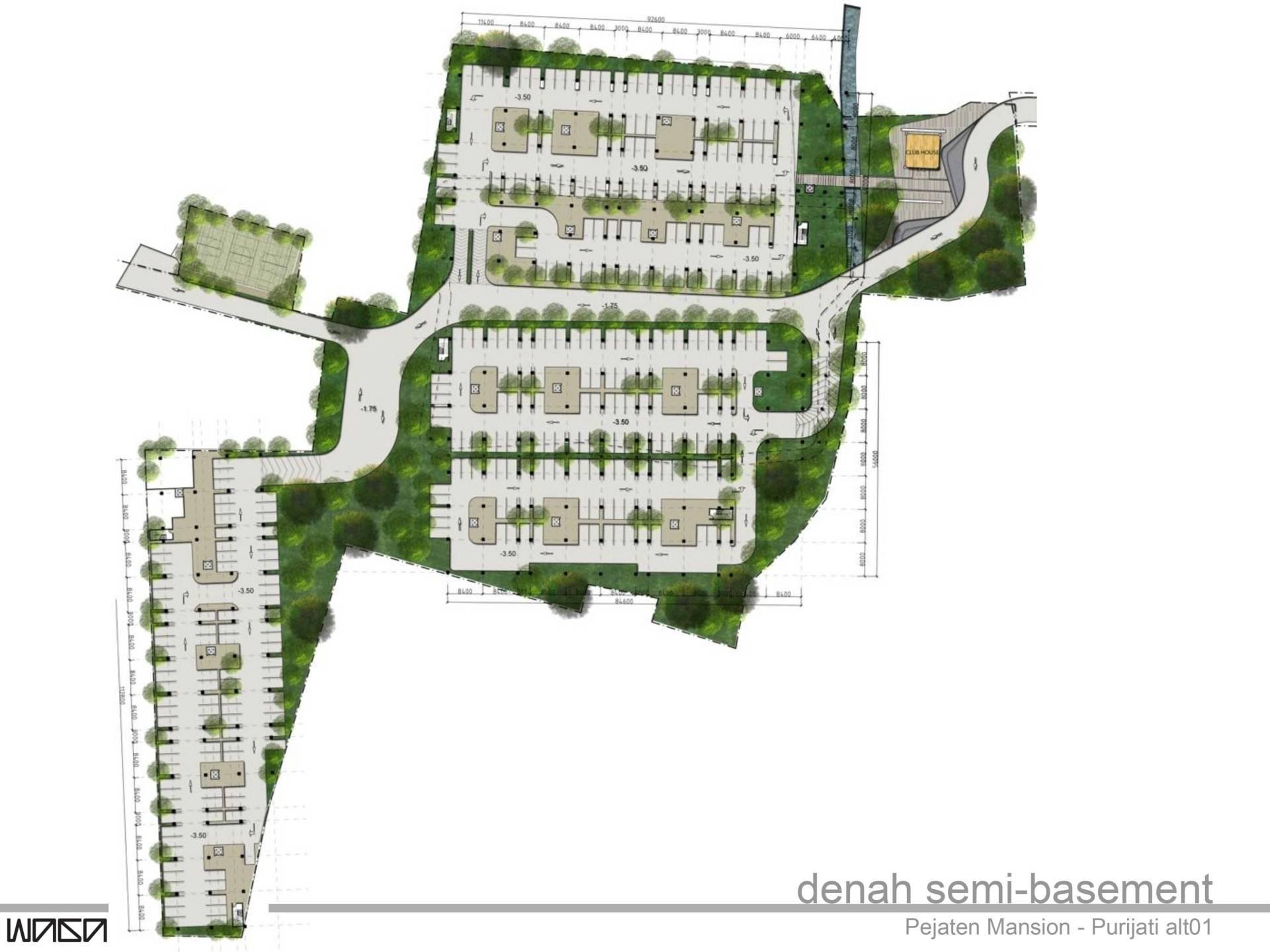 Waga Pejaten Mansion Masterplan Jakarta, Indonesia Jakarta, Indonesia Semi-Basement-Plan   7331