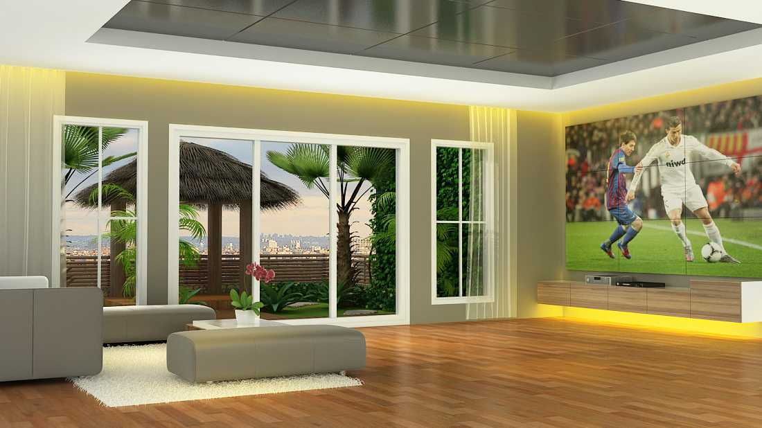Alexander Cal Private House   Living-Room-L2-B-Final Modern  37468