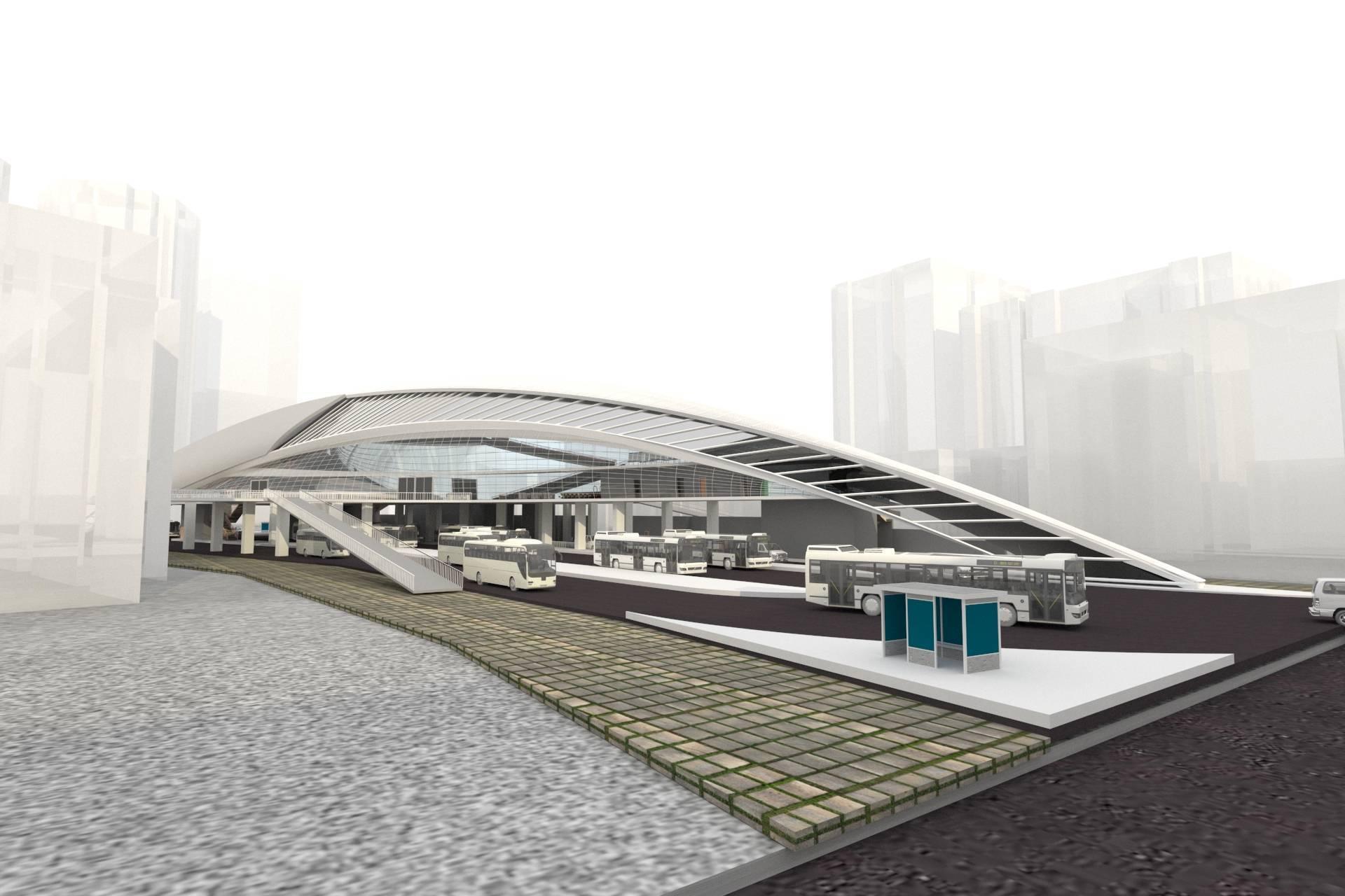 Vorze Studio Senen Transit Hub Jakarta Jakarta 3D-Perspektif-B   7734