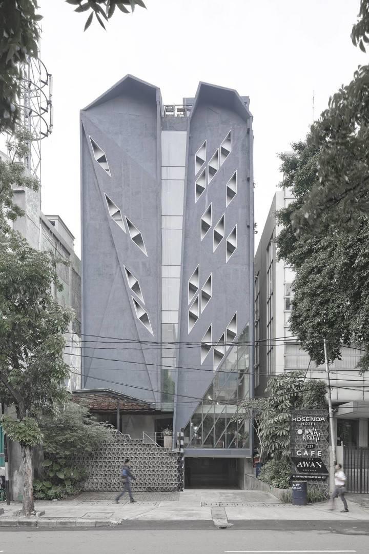 Antony Liu + Ferry Ridwan / Studio Tonton Kosenda Hotel Jl. Wahid Hasyim, Jakarta Jl. Wahid Hasyim, Jakarta Kosenda Hotel - Facade Modern  7930