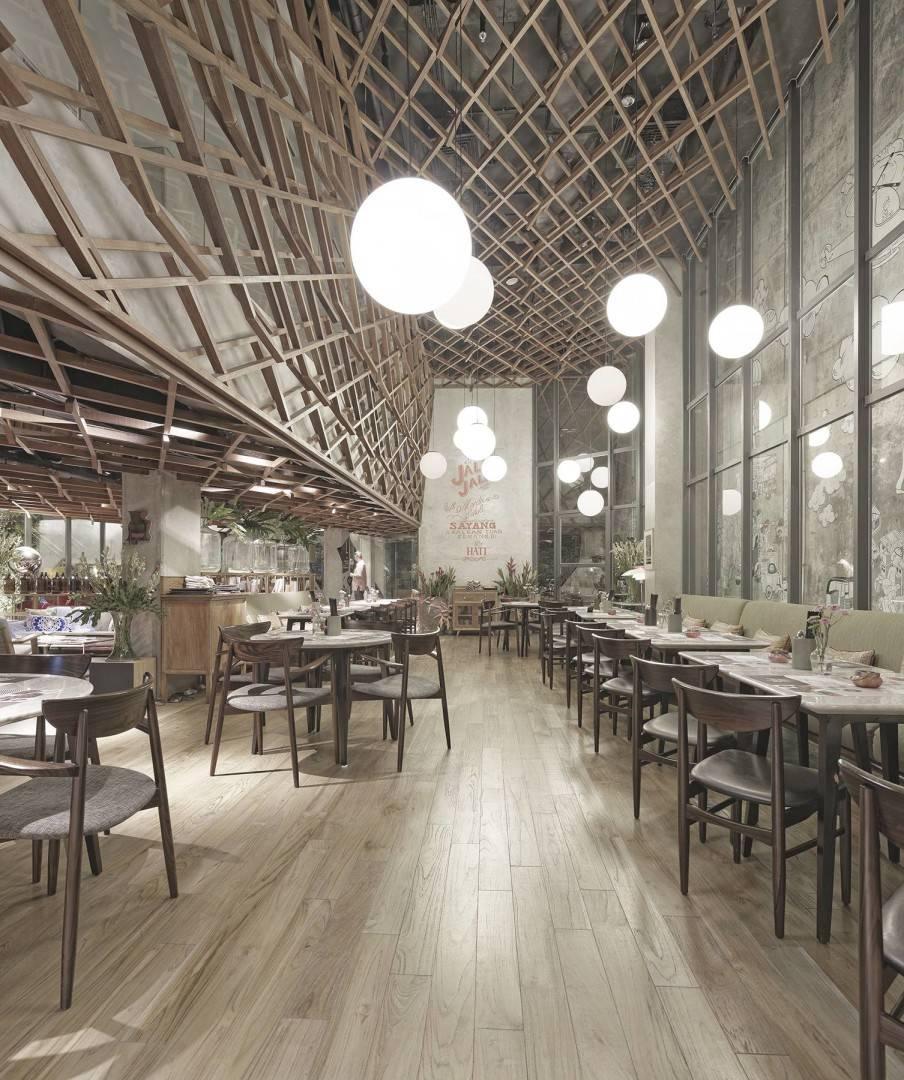 Antony Liu + Ferry Ridwan / Studio Tonton Kosenda Hotel Jl. Wahid Hasyim, Jakarta Jl. Wahid Hasyim, Jakarta Seating Area Restaurant Modern  7938