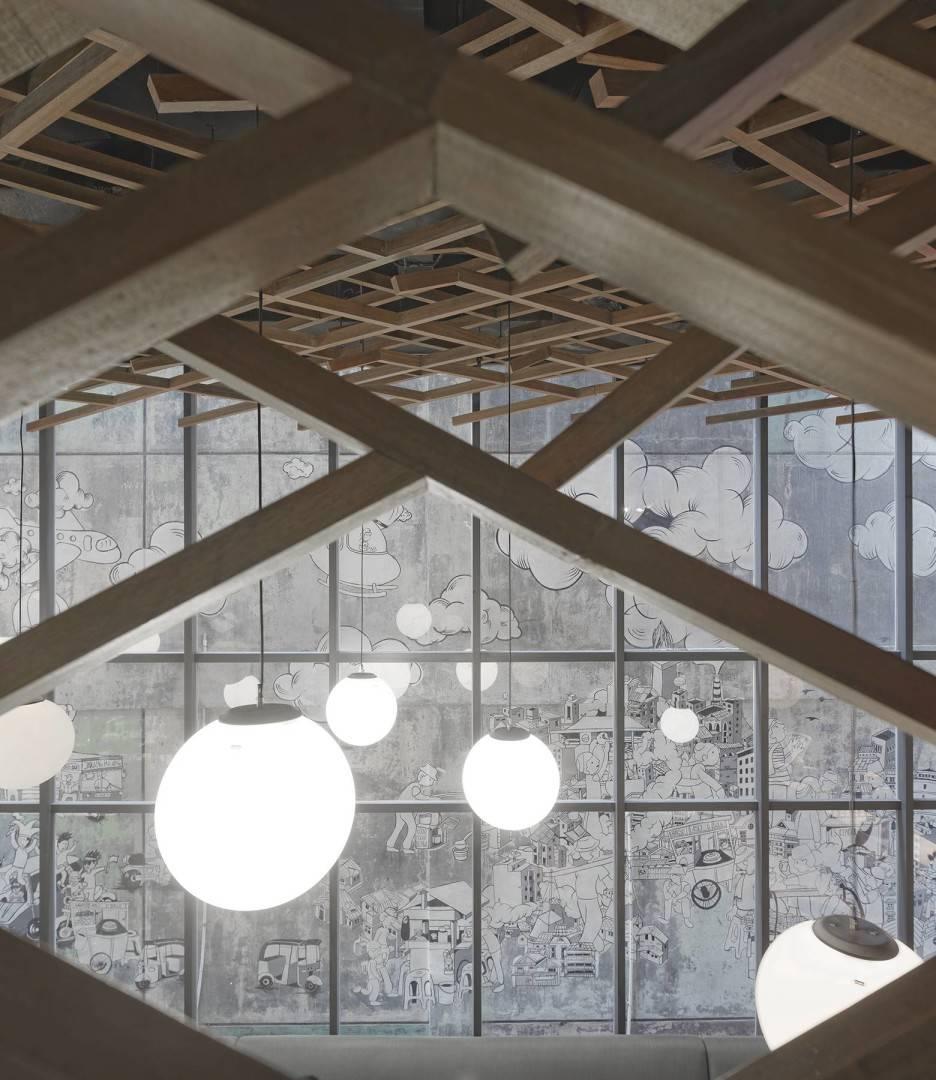 Antony Liu + Ferry Ridwan / Studio Tonton Kosenda Hotel Jl. Wahid Hasyim, Jakarta Jl. Wahid Hasyim, Jakarta Ceiling Lights Modern  7940