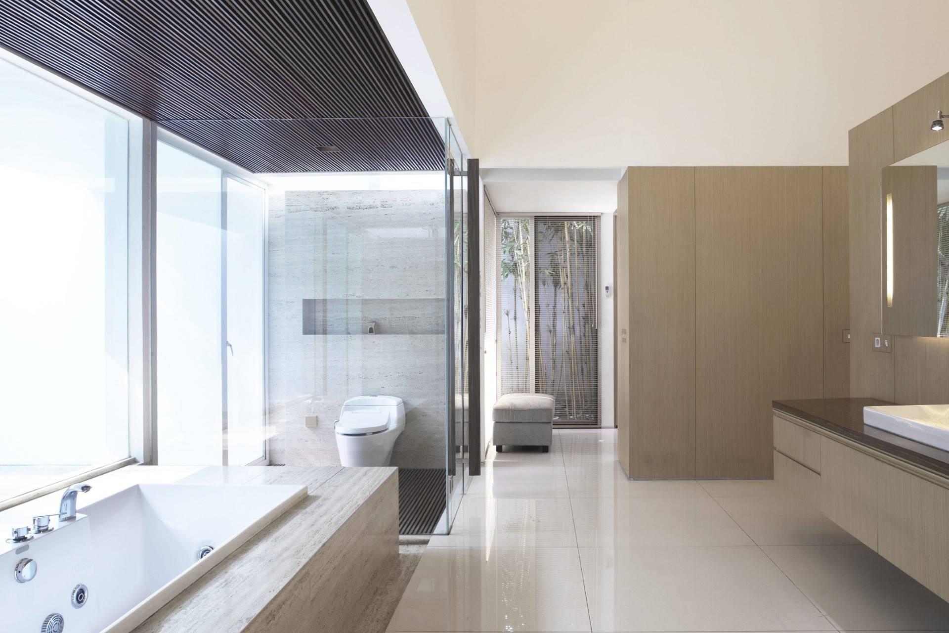 Antony Liu + Ferry Ridwan / Studio Tonton Ew House Serpong, Tangerang Serpong, Tangerang Bathroom Modern  8107