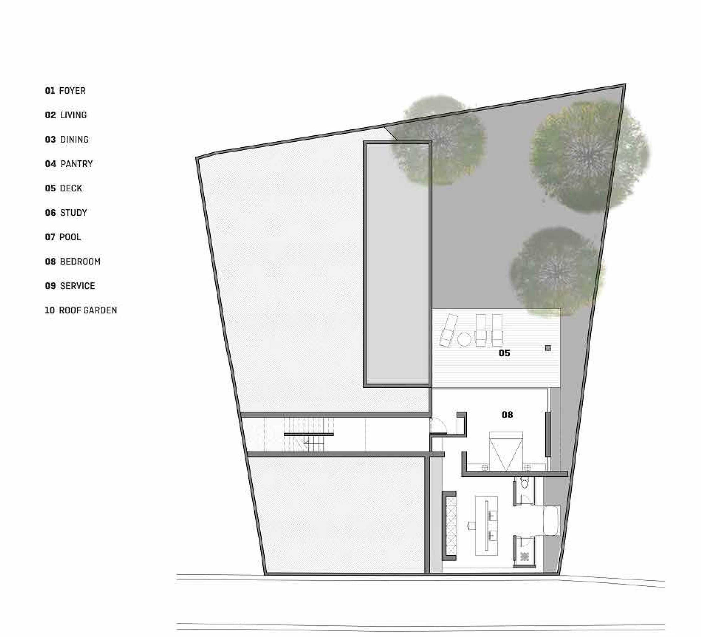 Platform Architects Canggu Villa Bali, Indonesia Bali, Indonesia 1St-Floor-Plan   8411