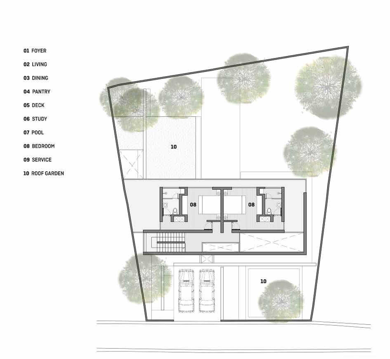Platform Architects Canggu Villa Bali, Indonesia Bali, Indonesia 3Rd-Floor-Plan   8413