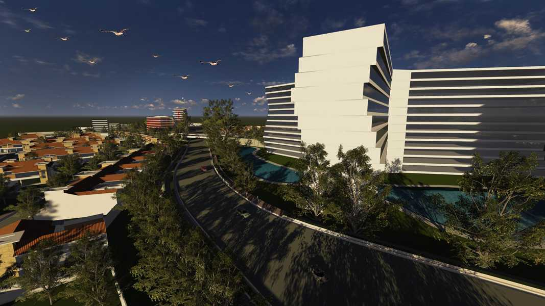 Imago Design Studio Menganti Residences Surabaya Surabaya Birde Eye View Tropis  9006