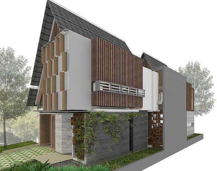 Studio Asri Perforated House Bali, Indonesia Bali, Indonesia Side-View   8557