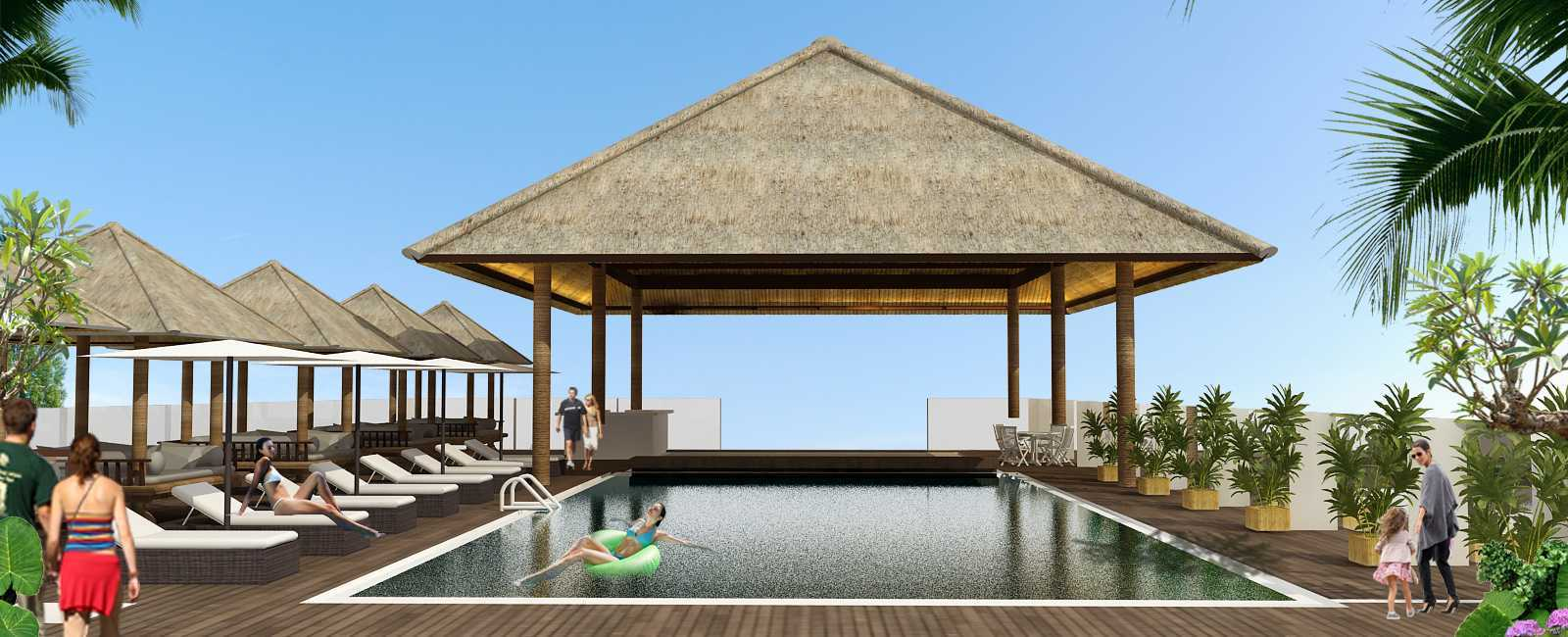 Studio Asri Canggu Beach Hotel Bali, Indonesia Bali, Indonesia Rooftop Swimming Pool   17022