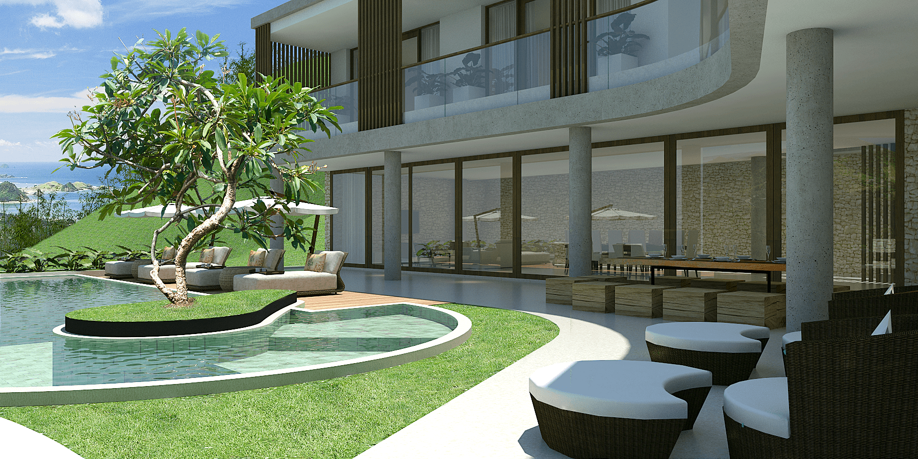 Pt. Indodesign Kreasi Mandiri Lombok Hotel South Lombok Kuta South Lombok Kuta Swimming Pool  <P>Villa 4Brm</p> 16095