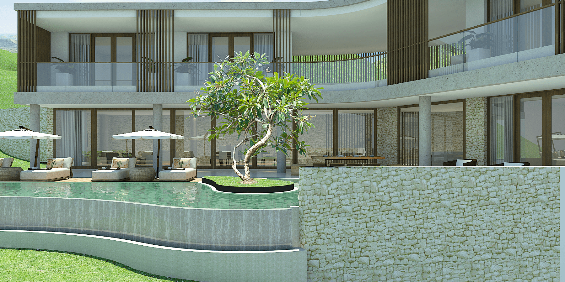 Pt. Indodesign Kreasi Mandiri Lombok Hotel South Lombok Kuta South Lombok Kuta Swimming Pool Area  <P>Villa 4Brm</p> 16097