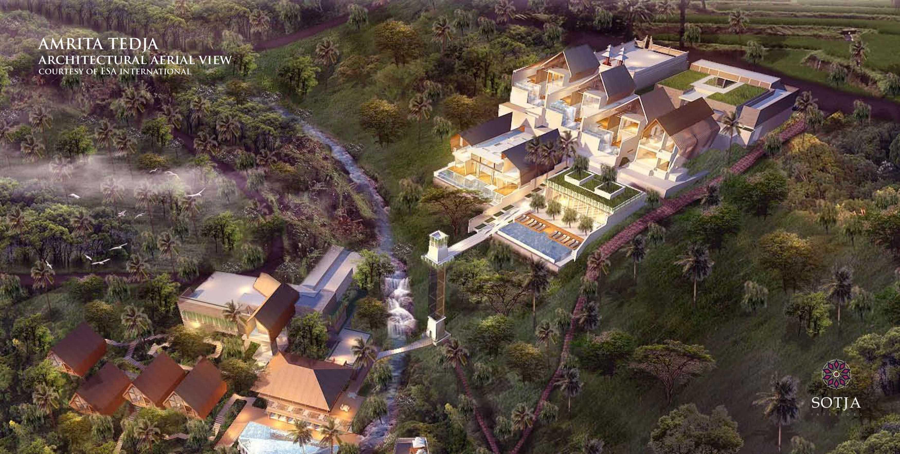 Sotja Interiors Amrita Tedja At Ubud Bali, Indonesia Bali, Indonesia Architectural Aerial View Tropical  8714