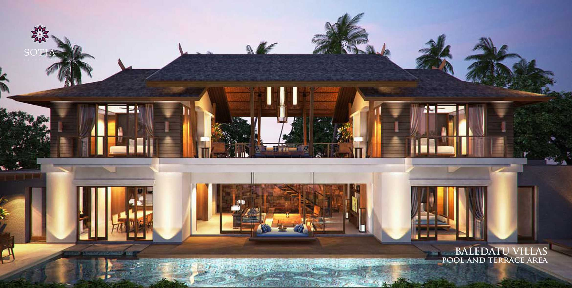 Sotja Interiors Baledatu Villas At Senggigi Lombok, Indonesia Lombok, Indonesia Back View   9912