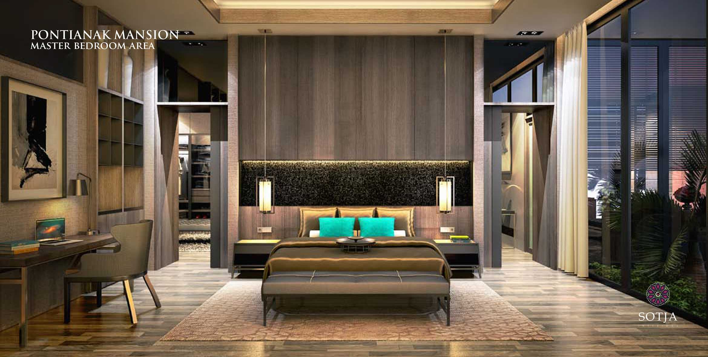 Sotja Interiors Pontianak Mansion Pontianak, Borneo Pontianak, Borneo Master Bedroom Area Modern  10039
