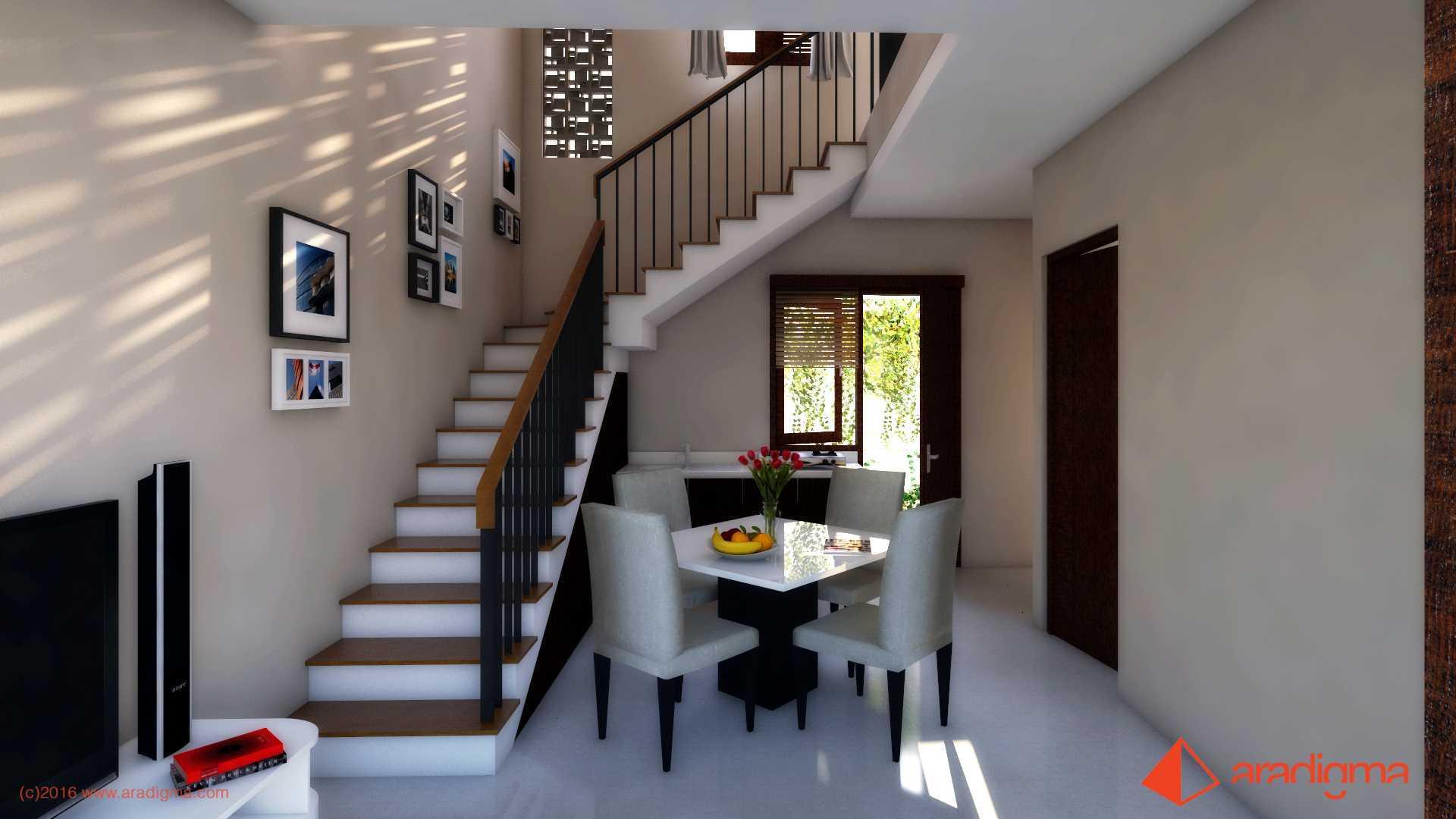 Aradigma Rumah Arjuna Malang Malang Stairs And Diningroom Modern  18747