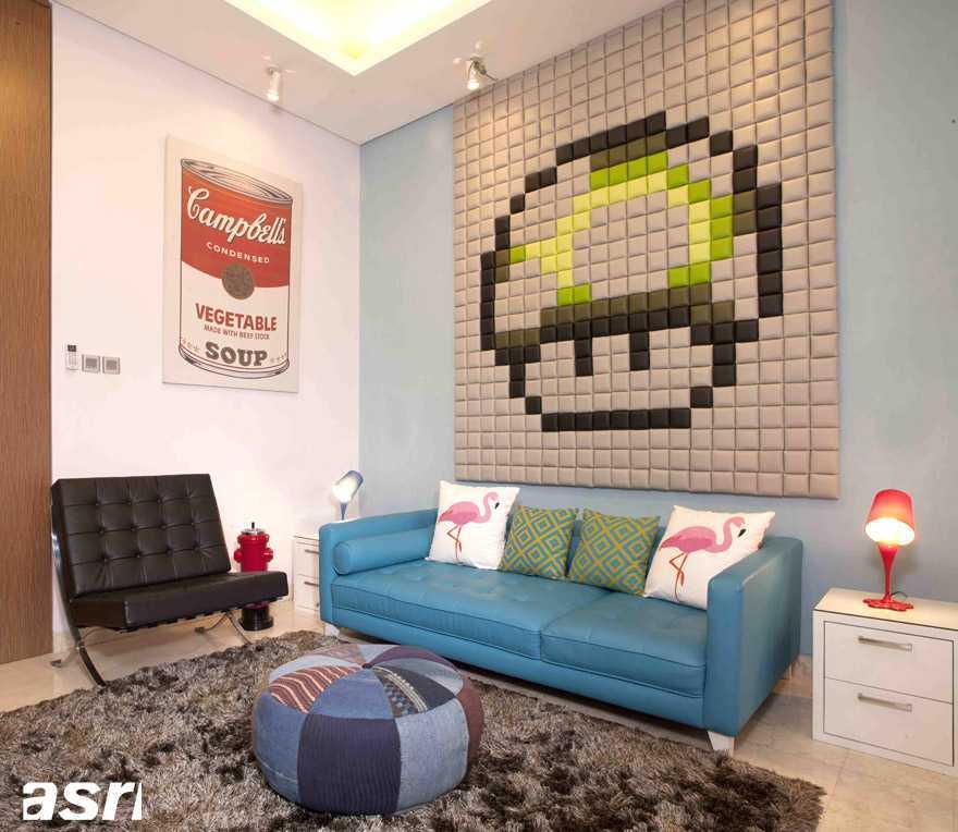 Vindo Design Kemang Residence Jakarta, Indonesia Jakarta, Indonesia Livingroom With Pop Art Decoration Modern  9253