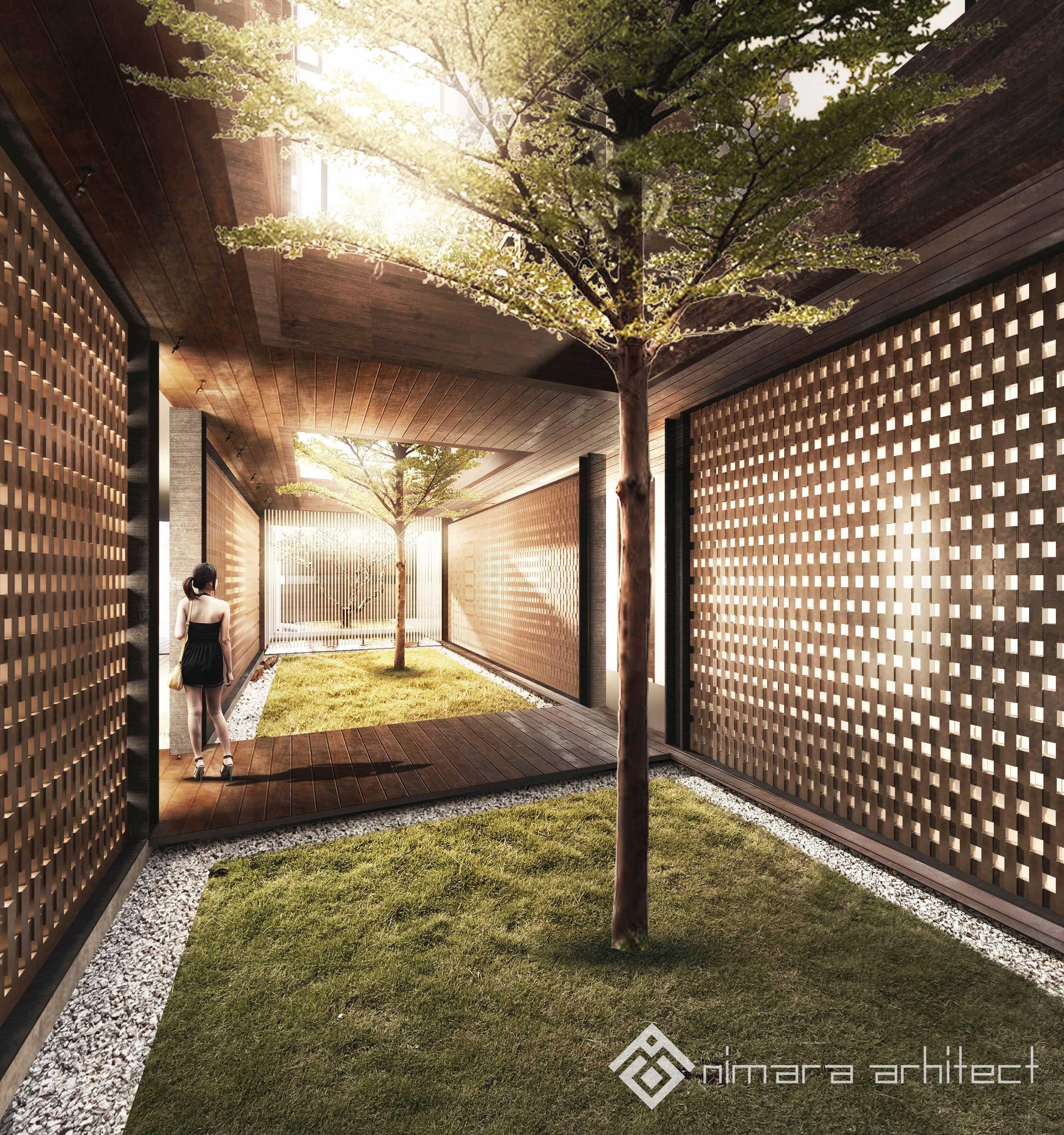 Nimara Architects  Dh House Jakarta Barat Jakarta Barat Innercourt-Lowres Kontemporer,minimalis,modern  17000