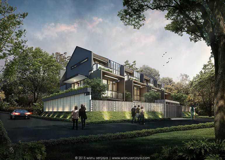 Wisnu Senjaya Architects Rumah Cluster Pendhapa Residences Bogor Bogor Site Plan   10180