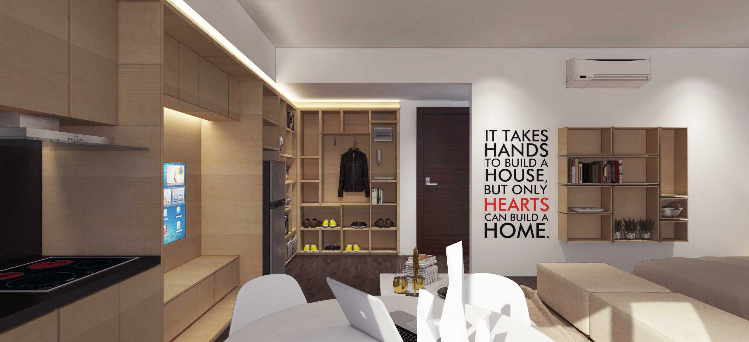 Ari Wibowo Design (Aw.d) R Apartment Kebun Jeruk, Jakarta Kebun Jeruk, Jakarta Apartment Room Modern  10004