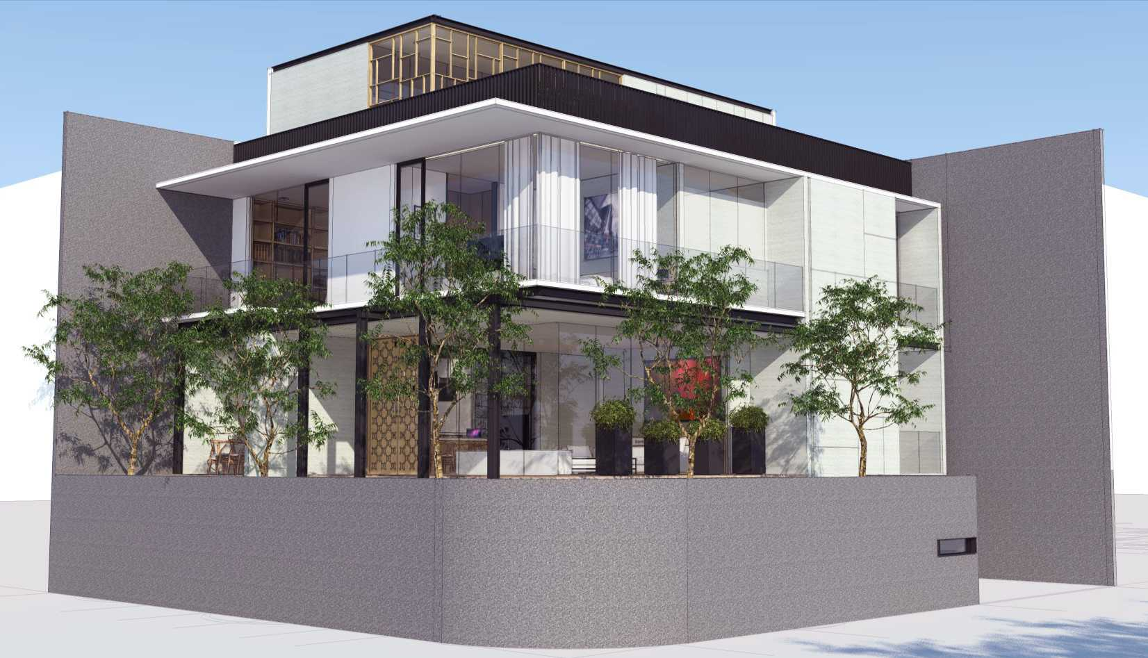 Ari Wibowo Design (Aw.d) Rk House Jakarta, Indonesia - Side View Modern  14527