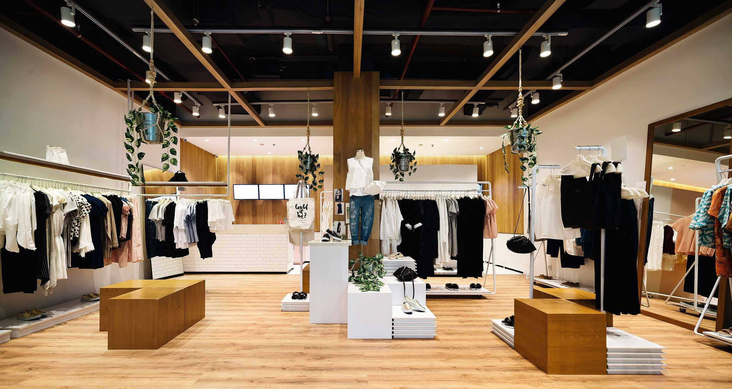 Tp architects cottonink store jakarta indonesia plaza senayan interior kontemporerwoodmodern 9601