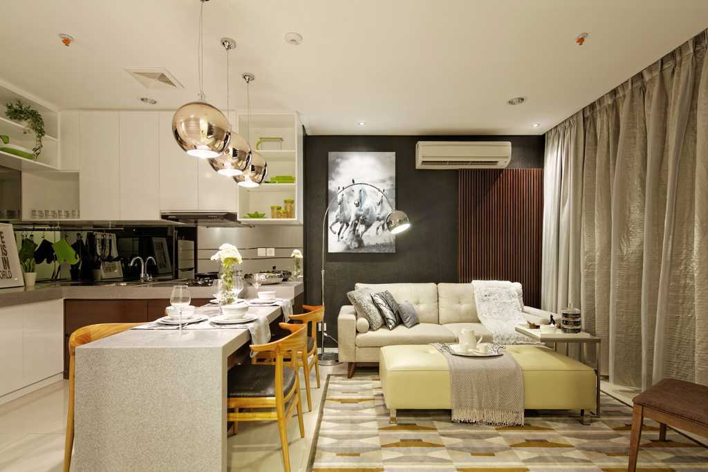 Teddykoo  2 Bedroom Show Unit Paddington Height Apartment  Alam Sutera  Alam Sutera  Living And Dining Room Modern  9624